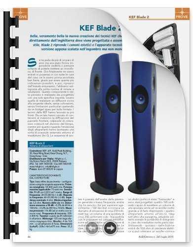 Prova di KEF BLADE 2 a cura di Audioreview