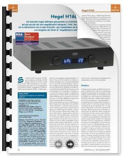 Prova amplificatore: HEGEL H160 – Marco Manno